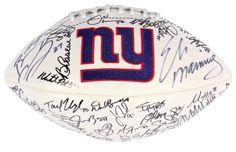 2011 New York Giants Autographed Logo Ball - 51 Sigs - Sports Memorabilia #NewYorkGiants #SportsMemorabilia