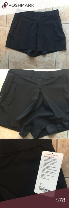 Lululemon 🍋 &Go City Skort NWT New black Skort from lulu. High rise, relaxed. Pockets in front and back. Reflective detail. 2.5 in inseam. Bought them when they came out and never wore them. lululemon athletica Shorts Skorts