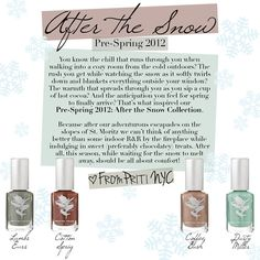 {After The Snow} Priti NYC Pre-Spring 2012 Nail Polish Collection