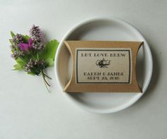 PERSONALIZED RUSTIC WEDDING FAVOR BOXES 3.5LONG X 2.5WIDE X 1 DEEP COMPLETE WITH RUSTIC PRINTED LABEL - LET LOVE BREW/CHOICE OF CHINA CUP AND SAUCER OR ANTIQUE TEAPOT/NAMES AND DATE WILL HOLD UP TO 6 TEABAGS/20 GRAMMES COFFEE   IF YOURE LOOKING FOR ON TREND, UNUSUAL, CLASSY BUT INEXPENSIVE WEDDING FAVORS - THESE MINI RUSTIC FAVOR BOXES TO FILL WITH TEA BAGS OR COFFEE BEANS ARE FOR YOU!! JUST THE RIGHT SIZE FOR ONE OR TWO TEA BAGS - OR A APPROX 20 GRAMMES OF COFFEE BEANS - EACH BOX IS…