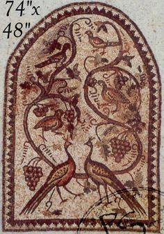 Wine Cellars Design by Phoenician Stone : Ancient Mosaics