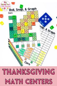 Engage your students with these Halloween themed snap cube graphing activity for math skills. These are a perfect for Thanksgiving activity and great practice for number recognition, graphing, patterns and more! Ideal for independent math centers, small group lessons and finish centers. #math #thanksgiving #graphing