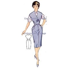 New to EmbonpointVintage on Etsy: Plus Size (or any size) Vintage 1950s Womens Workwear Dress Pattern - PDF - Pattern No 81: Kim (11.73 AUD)