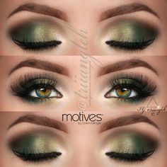 green makeup for green eyes @Triiangleh
