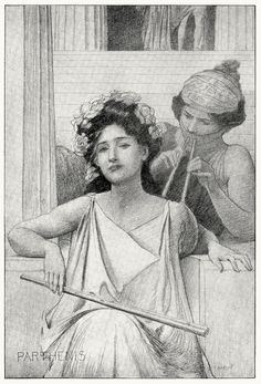 Parthenis.  Edwin Howland Blashfield, from Masques of Cupid, by Evangeline Wilbour Blashfield, New York, 1901.