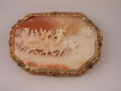 Magnificent Signed Russian War Scene Cameo Pin | eBay