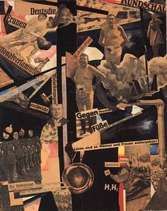 """""""Dada Panorama"""" Collage, 1919, by Hannah Höch. She was the only woman to take part in the First International Dada Fair in July 1920."""