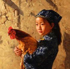 "Jie-Wei Zhou, ""Rooster"""