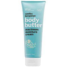 Bliss - Vanilla+Bergamot Body Butter Maximum Moisture Cream #sephora