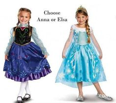Frozen Anna or Elsa Costume Dress by GladdyCouture on Etsy, $29.99