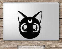 Luna Sailor Moon - Apple Macbook Laptop Vinyl Sticker Decal