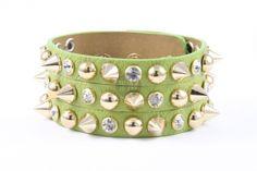 Bratara din piele Sparkle trio green   Wo-Men.ro Cuff Bracelets, Sparkle, Green, Jewelry, Fashion, Moda, Jewlery, Jewerly, Fashion Styles