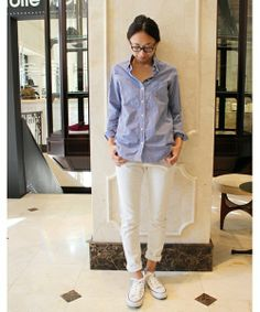 Deuxieme Classe(ドゥーズィーエムクラス)の◆FRAME DENIM ボーイフレンドデニム(デニムパンツ)|詳細画像 Daily Fashion, Girl Fashion, Womens Fashion, Her Style, Cool Style, Spring Outfits, Spring Clothes, Frame Denim, White Jeans
