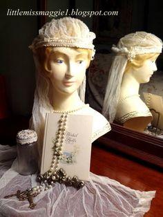 LittleMissMaggie: Vintage Bridal Veil