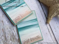 Eimear Carvill - www.stampincolour... Crafting for the weekend - quick & easy video tutorial using the gorgeous retiring Serene Scenery and the upcoming Colorful Seasons - coming very soon June 1st - so simple and so easy to let the DSP shine - which do you prefer Soft Suede or Copper?