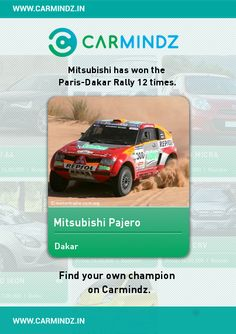 2007 saw Mitsubishi take its record-breaking 12th outright victory in the toughest test of man and machine on earth - the gruelling Dakar Rally. But what makes this success even more impressive is it was Mitsubishi's seventh win in a row - and that's a statistic which no other car manufacturer can claim.   Source: mitsubishi-motors.co.in
