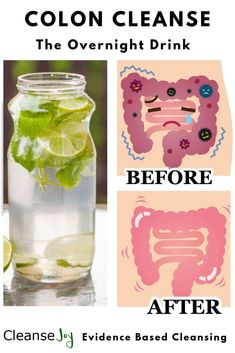 Natural DIY recipe drink to cleanse detox and flush your colon overnight. Feel the before and afte&; Natural DIY recipe drink to cleanse detox and flush your colon overnight. Feel the before and afte&; Detox Cleanse For Weight Loss, Full Body Detox, 5 Day Detox Cleanse, At Home Cleanse, One Day Juice Cleanse, 24 Hour Detox, Best Cleanse, One Day Detox, Herbalife