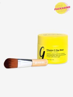 Shine Bright™ - Vitamin C Clay Mask – Gleamin™ Jasmine Essential Oil, Bergamot Essential Oil, Clay Face Mask, Clay Masks, Tumeric Masks, Tumeric Face, Turmeric, Best Dark Spot Corrector, Charcoal Mask Peel