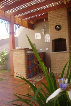 Pergola for small churraqueira Gazebo Pergola, Pergola With Roof, Patio Roof, Pergola Plans, Outdoor Spaces, Outdoor Living, Outdoor Decor, Surf House, House Front