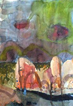 Meagan Jacobs Artist - Precipitation - Gouache on paper