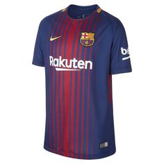Nike 2017/18 FC Barcelona Home Big Kids' Soccer Jersey Size Medium (Blue)