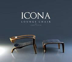 Icona Lounge: a designer chair Ismet Cevik - Hello Design Mag Steel Furniture, Unique Furniture, Furniture Decor, Furniture Design, Lounge Chair Design, Sofa Design, Furniture Inspiration, Decoration, Behance