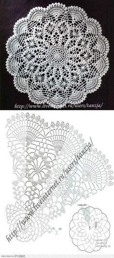 Captivating All About Crochet Ideas. Awe Inspiring All About Crochet Ideas. Free Crochet Doily Patterns, Crochet Doily Diagram, Crochet Circles, Crochet Chart, Crochet Motif, Crochet Lace, Crochet Coaster, Free Pattern, Filet Crochet