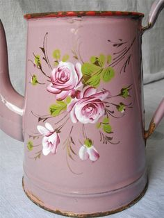 Mother's day French antique enamelware hand by myfrenchycottage, $85.00