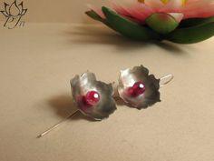 Lotus earrigs alpacca silver and agathe  http://padmajewelsbazaar.blogspot.it/