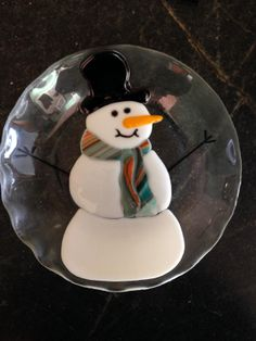 Fused Snowman bowl