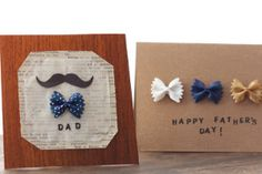 Bow Tie Father's Day Card- Use bow tie pasta on Father's Day crafts for kids!! SO SMART!