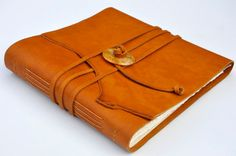 Handmade Leather Journal 9 1/2 x 9 1/2 140 by creatinggoodworks