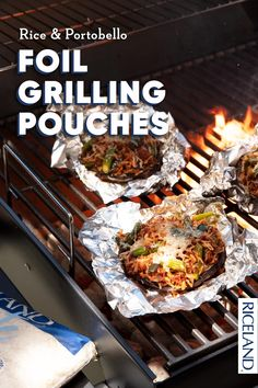 Rice and Portobello Foil Grilling Pouches Grilled Portabella Mushrooms, Stuffed Mushrooms, Summer Grilling Recipes, Rice Dishes, Portobello, Mushroom Recipes, Yummy Food, Yummy Recipes, Asparagus