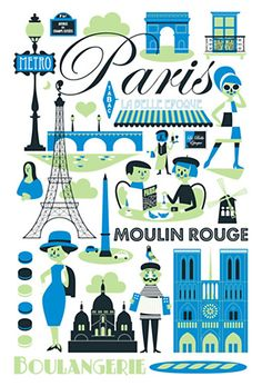 Tea Towel- Paris by Ingela P. Arrhenius