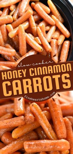 Free up the oven for other dinner ideas by throwing this easy Thanksgiving side dish in the crockpot! Thanks to a honey cinnamon glaze, this sweet, buttery slow cooker carrots recipe is the BEST. Prepare to be addicted! Side Dishes Easy, Side Dish Recipes, Lunch Recipes, Appetizer Recipes, Real Food Recipes, Slow Cooker Roast, Slow Cooker Recipes, Crockpot Recipes, Easy Thanksgiving Recipes