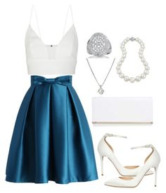 """""""❄"""" by queen7may on Polyvore featuring Chicwish, Narciso Rodriguez, Forzieri, Bling Jewelry, Boohoo and Jimmy Choo"""