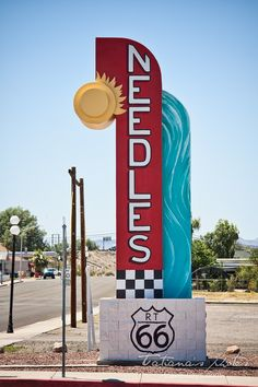 Needles vintage sign on Route California I went threw here on vacation 2017 Route 66 Theme, Old Route 66, Route 66 Road Trip, Historic Route 66, Travel Route, Road Trip Usa, Route 66 Arizona, Travel Oklahoma, Needles California