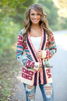 Celebrate Good Times Aztec Cardigan CLEARANCE - The Pink Lily Boutique