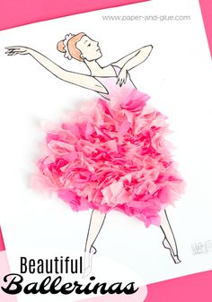 Ballet Craft For Kids- easy and simple ballerina project for little dancers.  Great for preschool, kindergarten, or elementary.