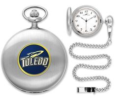 New - Mens Toledo Rockets-Pocket Watch - Silver