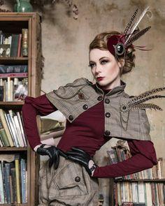 Steampunk dress Sherlock polo shirt