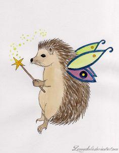 Hedgehog Fairy by ~Lemoncholic on deviantART