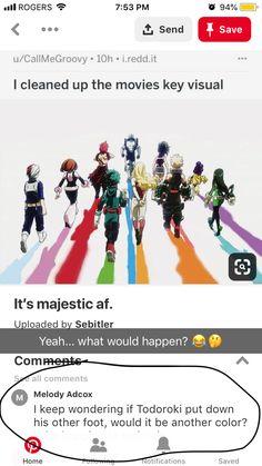 A walking rave Boku No Hero Academia, My Hero Academia Memes, Hero Academia Characters, My Hero Academia Manga, Funny Cute, Hilarious, Animes On, Me Too Meme, Steven Universe