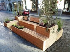 parklet significant other Urban Furniture, Street Furniture, Garden Furniture, Landscape Architecture, Landscape Design, Architecture Design, Outdoor Seating, Outdoor Dining, Deco Restaurant