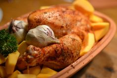The Doctor in the Kitchen: New Toy: Römertopf! Baked Whole Chicken with Delicious Root Vegetables