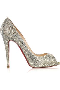 eeff0702184 Step out in dazzling style on your wedding day with Christian Louboutin  wedding shoes Lady Claude. Check it out   get your Christian Louboutin  wedding
