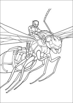 coloring page Ant man