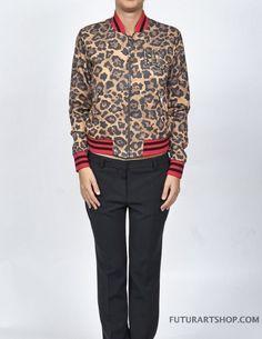 Imperfect Giubbotto leopard