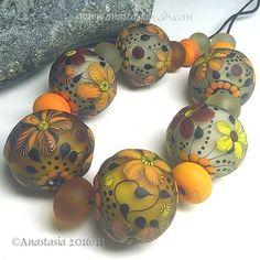 ANASTASIA-handmade-lampwork-beads-6-034-AUTUMN-SUN-034-SRA http://www.ebay.com/itm/262708181786?ssPageName=STRK:MESELX:IT&_trksid=p3984.m1555.l2649
