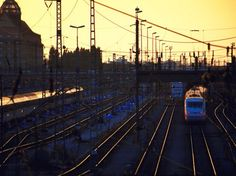 Sonnenuntergang Hackerbrücke München